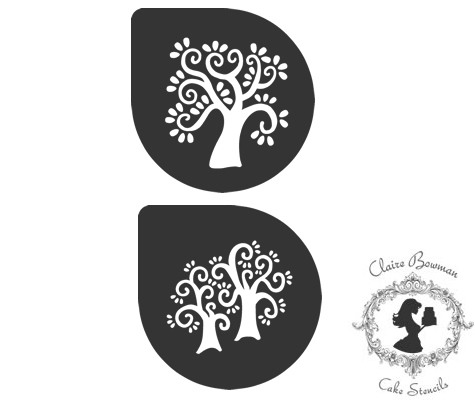 VINTAGE TREES (SET OF 2) Stencil - by Claire Bowman