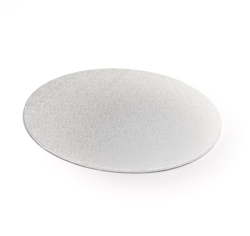 Masonite Cake Board (SILVER) - 8 ROUND