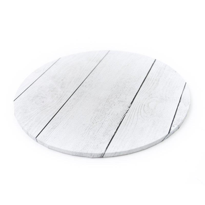 Food Presentation Board (WHITE PLANKS) - 14 ROUND