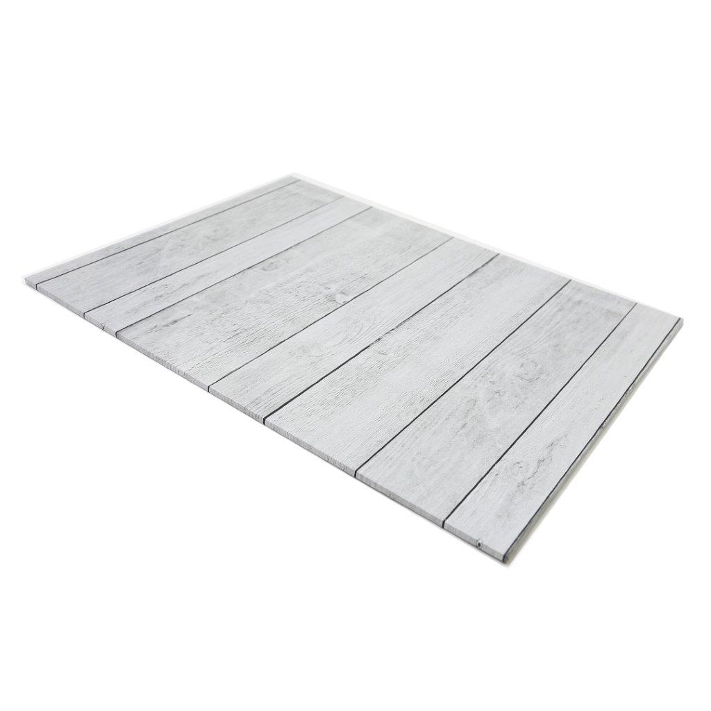 Food Presentation Board (WHITE PLANKS) - RECTANGLE (45cm x 35cm)