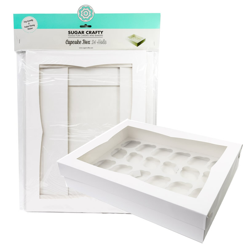 HANGSELL Cupcake Box with PVC Window (holds 24 cupcakes)