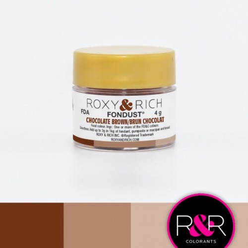 CHOCOLATE BROWN Fondust Dusting Colour 4g - ROXY & RICH