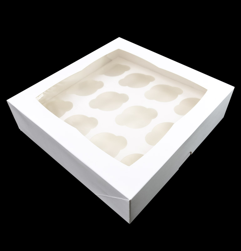 4 HIGH Cupcake Box with PVC Window (holds 12 cupcakes)