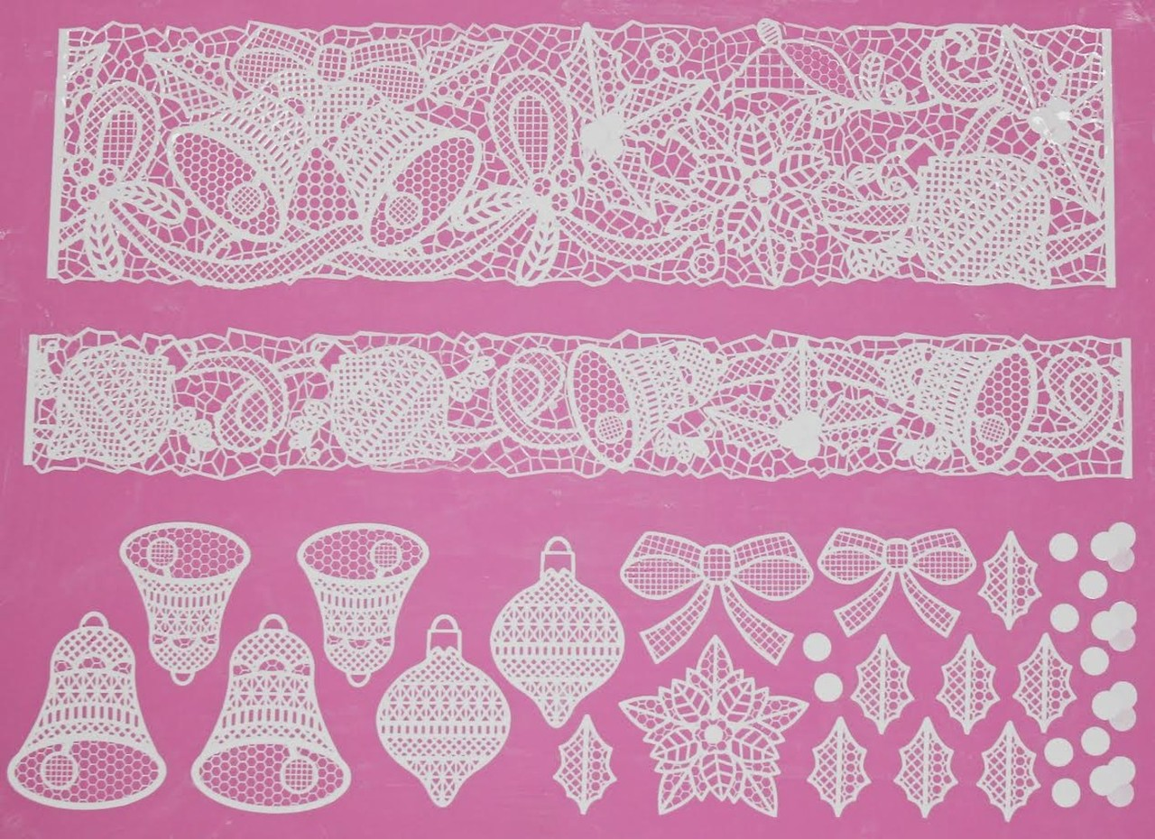 BELLS & BOWS 3D Cake Lace Mat - by Claire Bowman