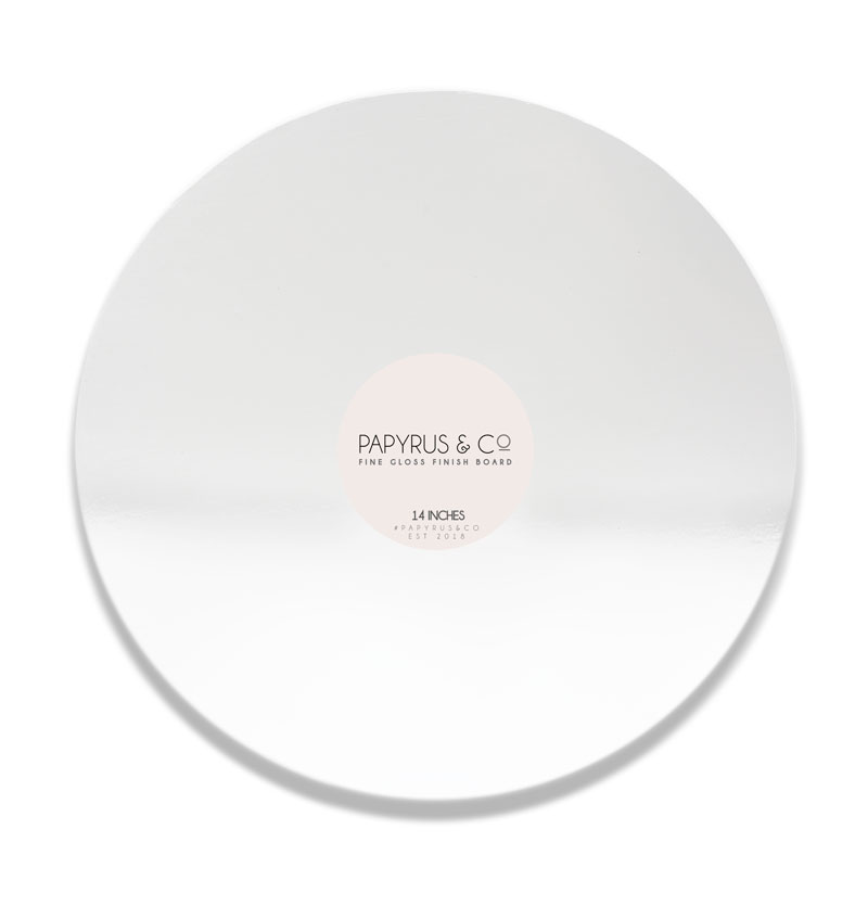GLOSS WHITE 14 Round Masonite Cake Board