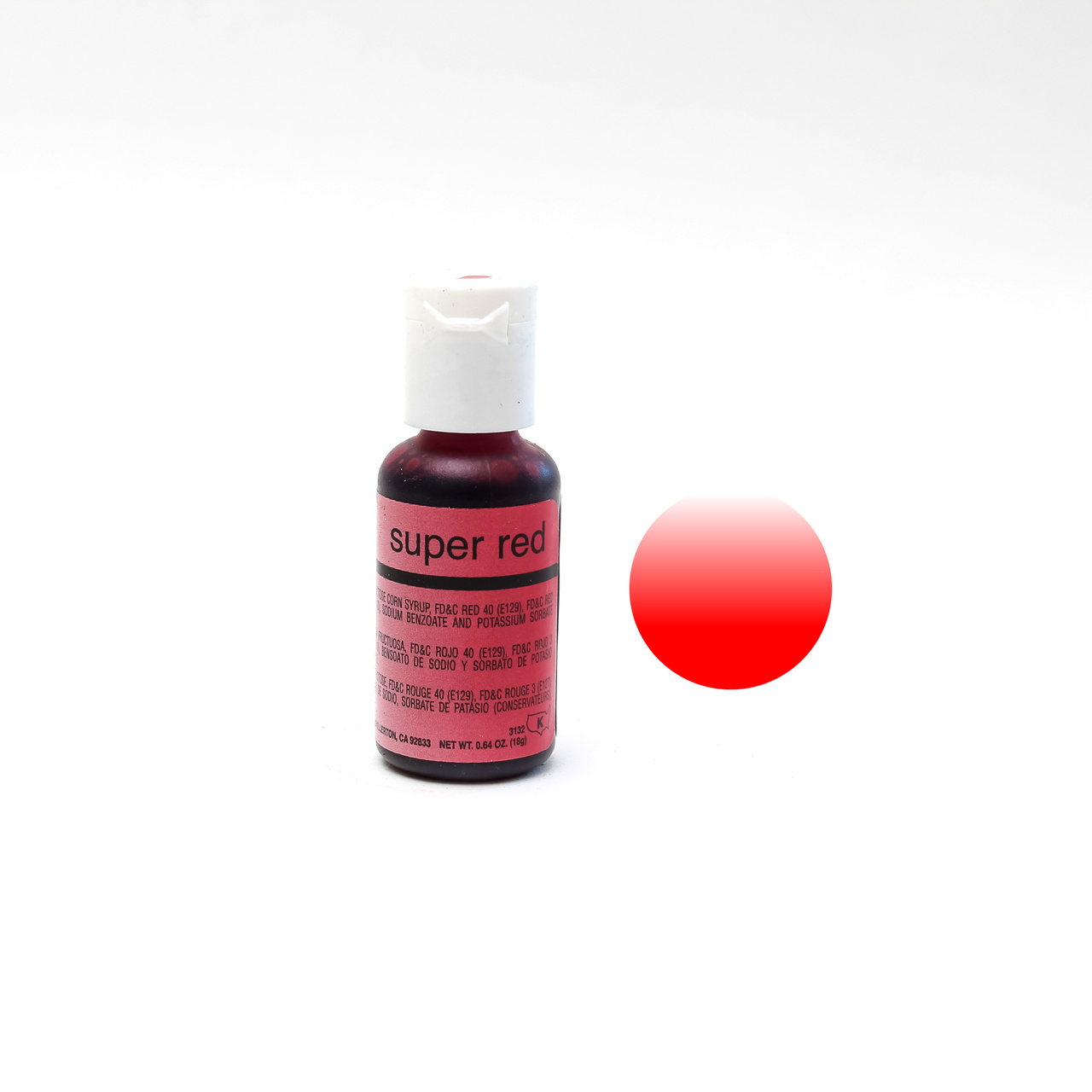 Chefmaster Airbrush Colour SUPER RED (0.64oz)**