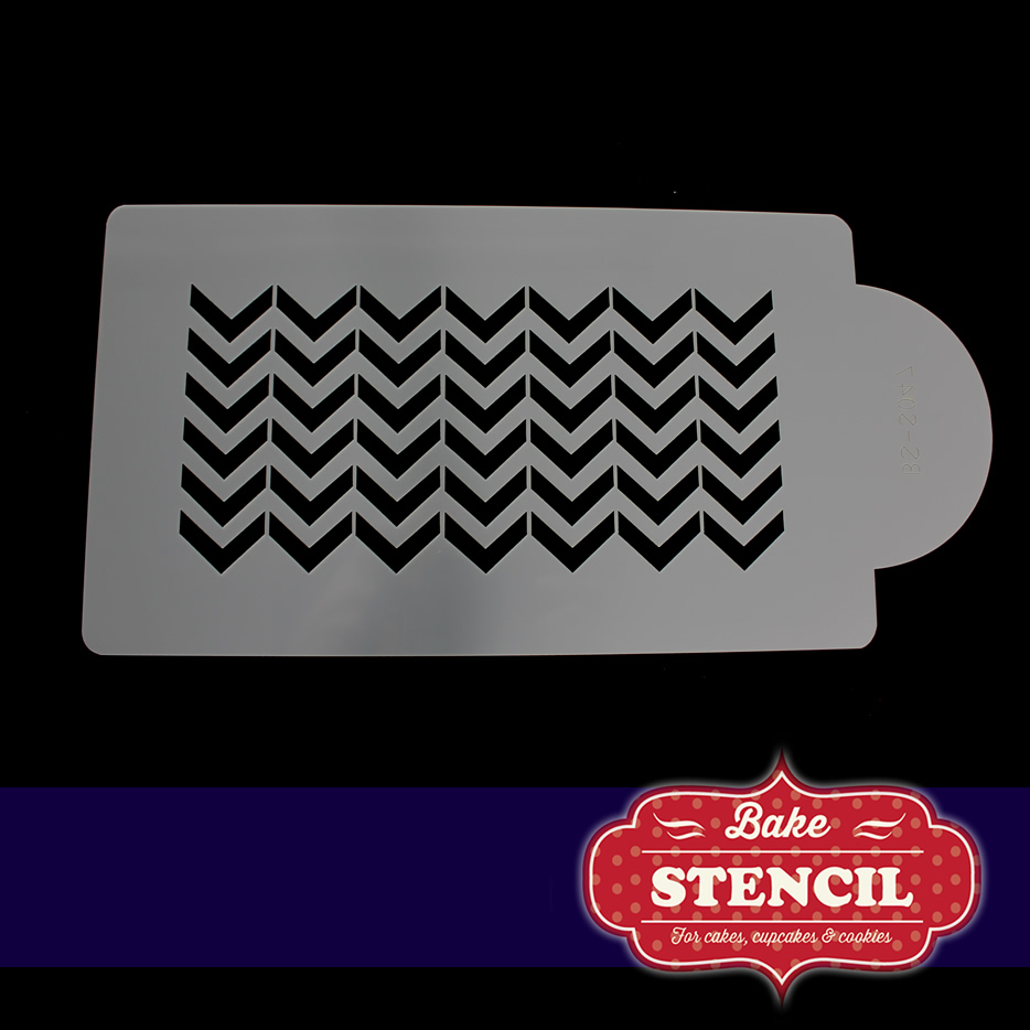 CHEVRON SIDE Stencil - by Bake Stencil