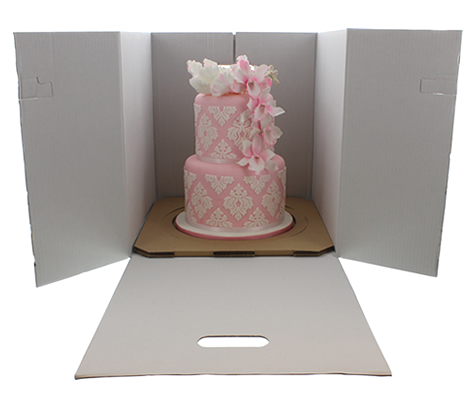 Large Stacked Cake Box - Fits 10 & 12 boards
