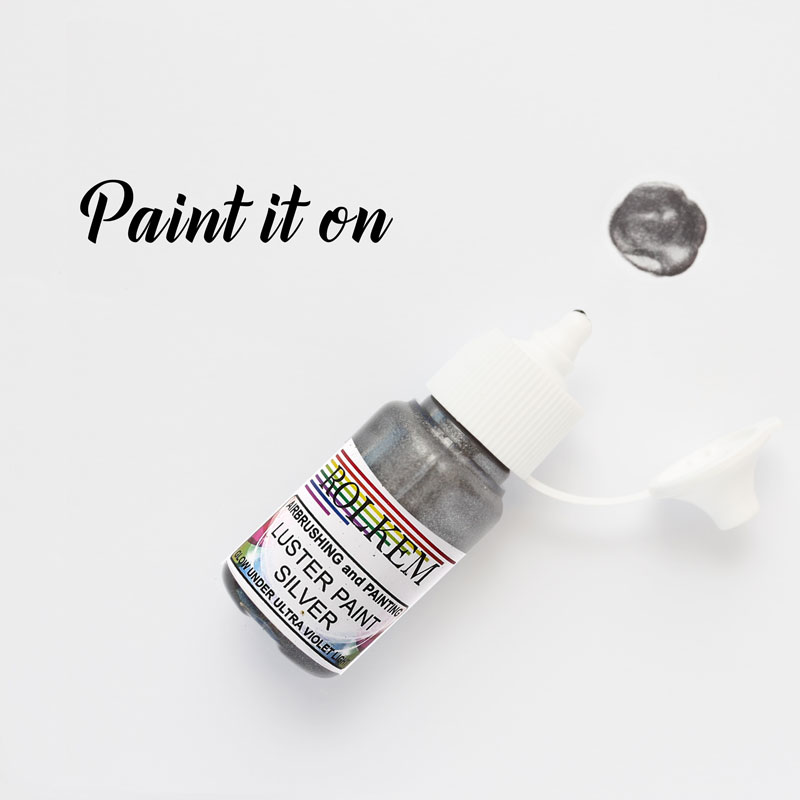 Rolkem Gel Lustre Paint SILVER (15ml)