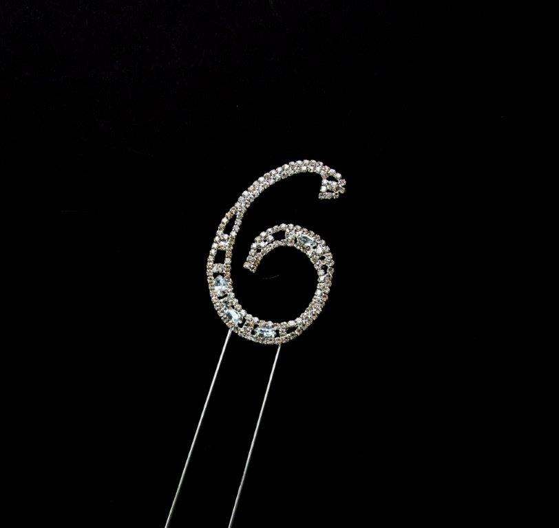 Decorative Diamante (7cm) - NUMBER 6
