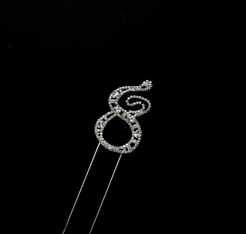 Decorative Diamante (7cm) - NUMBER 8