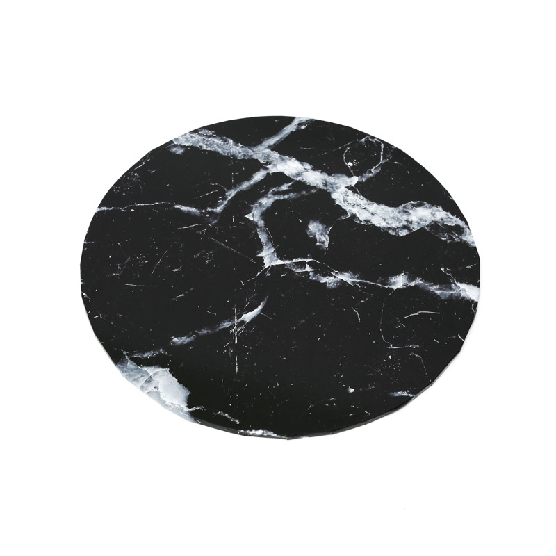 Food Presentation Board (BLACK MARBLE) - 12 ROUND