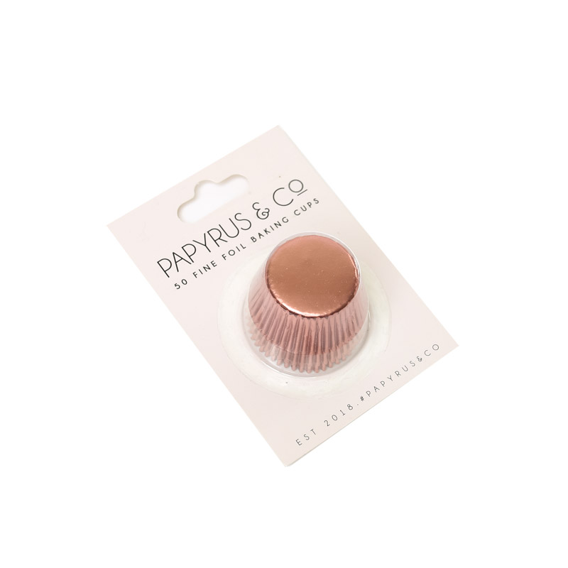 Mini ROSE GOLD Foil Baking Cups (50 pack)