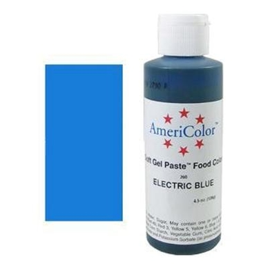ELECTRIC BLUE Americolor Soft Gel Paste (4.5oz) **