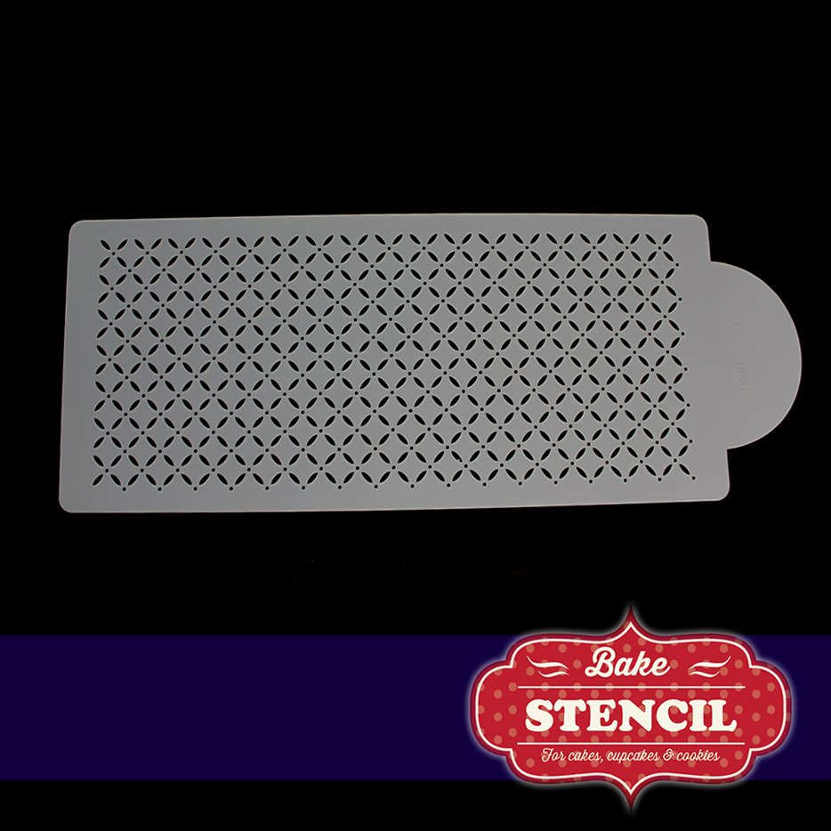 EYELET LATTICE Stencil - by Bake Stencil