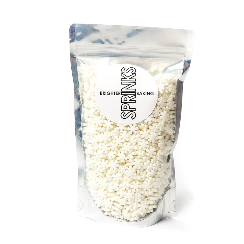 XL WHITE Snowflakes (500g) - by Sprinks