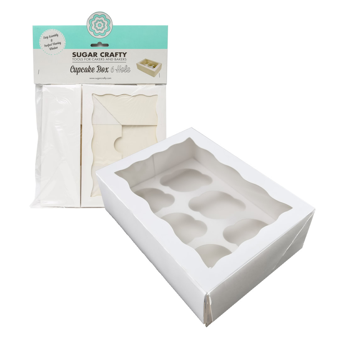 HANGSELL Cupcake Box with PVC Window (holds 6 cupcakes)