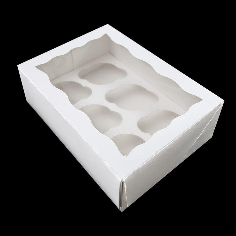 4 HIGH Cupcake Box with PVC Window (holds 6 cupcakes)