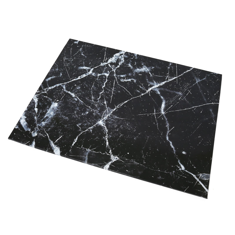 Food Presentation Board (BLACK MARBLE) - RECTANGLE (45cm x 35cm)
