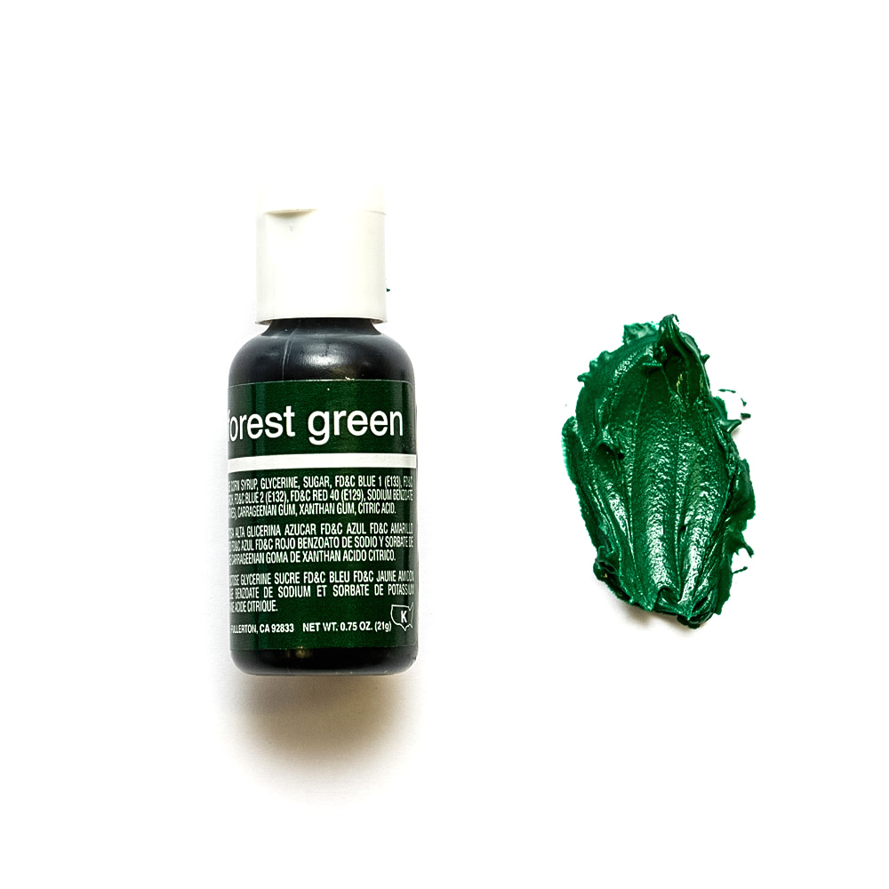 Chefmaster Liqua-Gel FOREST GREEN (0.70oz)**