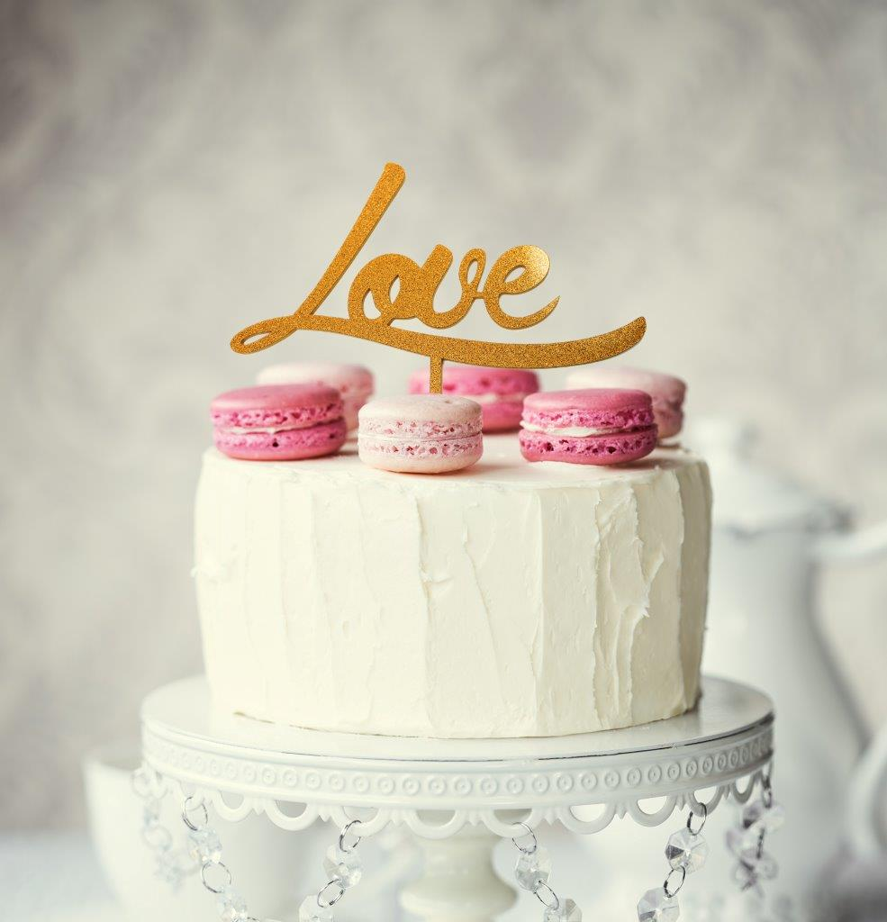 LOVE Cake Topper (Gold)