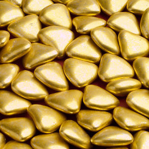 GOLD MINI HEART Chocolate Dragees (1kg)