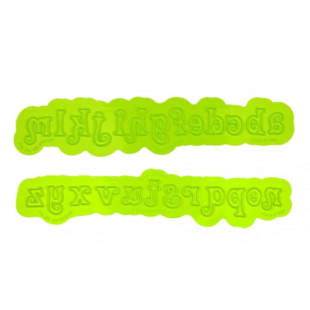 LOWERCASE SWIRLY Flexabet Onlay - Marvelous Molds