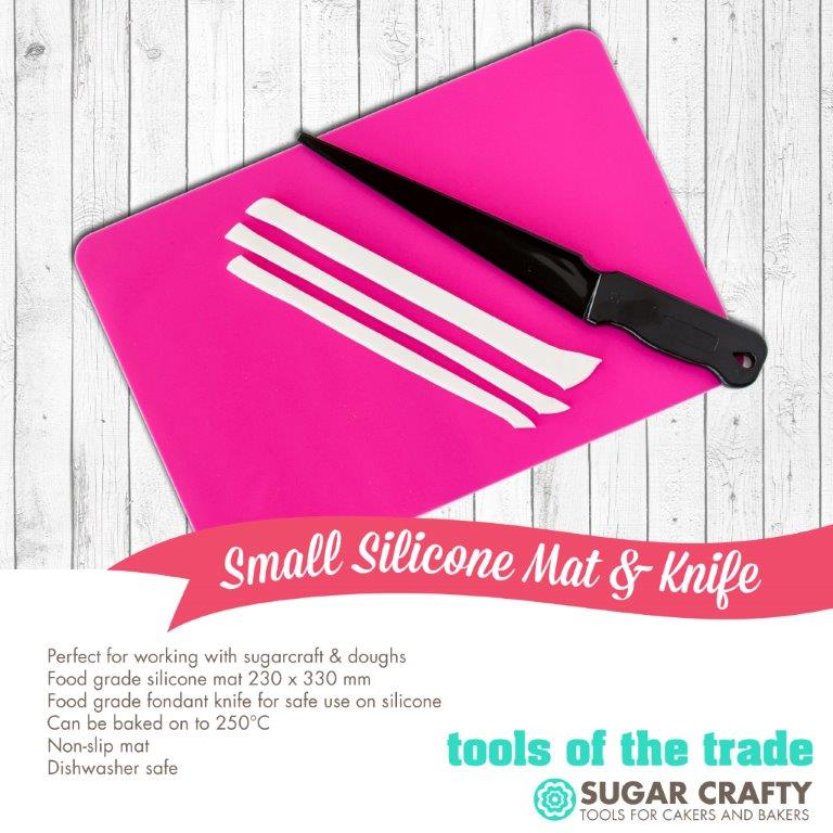 Small Silicone Mat & Knife - by Sugar Crafty