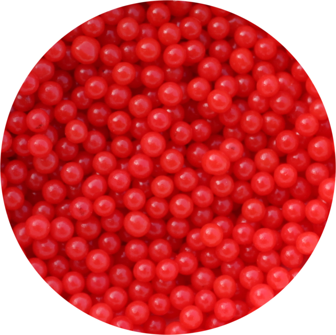 Cachous Round - SHINY RED 2mm (1kg)