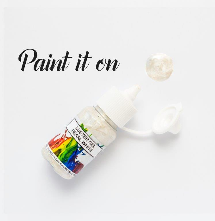 Rolkem Gel Lustre Paint PEARL WHITE (15ml)