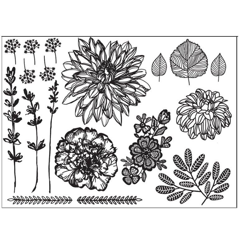HAND DRAWN FLORALS Silho Mould - by Silho Cake