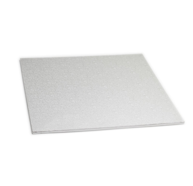 Masonite Cake Board (SILVER) - 10 SQUARE