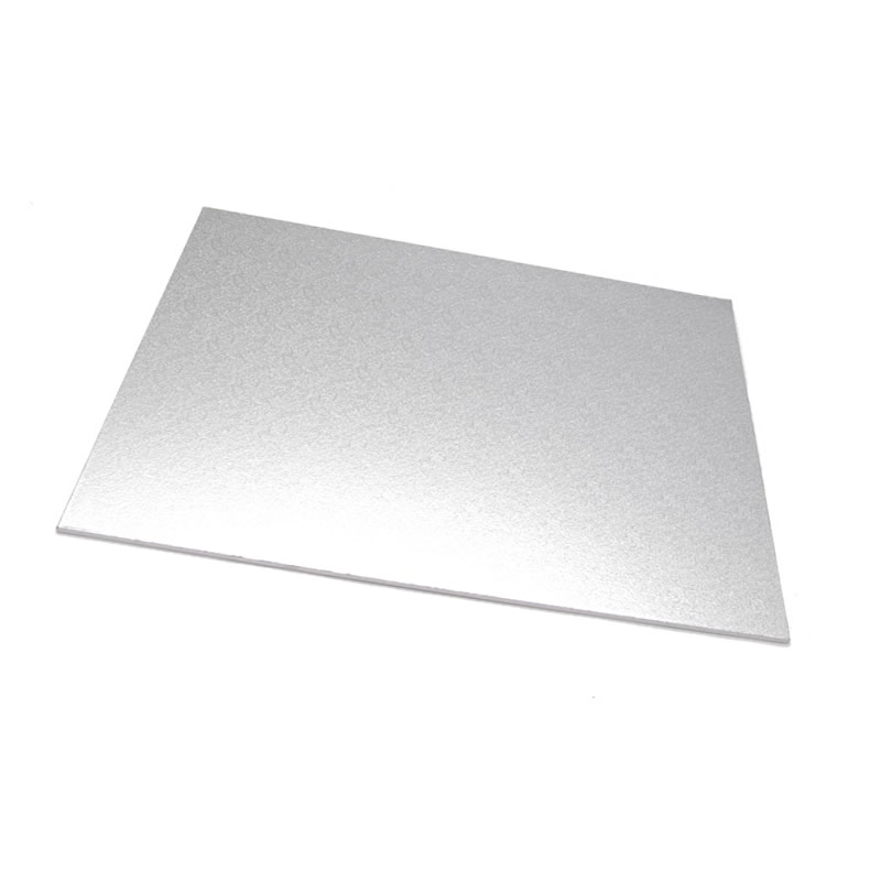Masonite Cake Board (SILVER) - RECTANGLE (45cm x 35cm)
