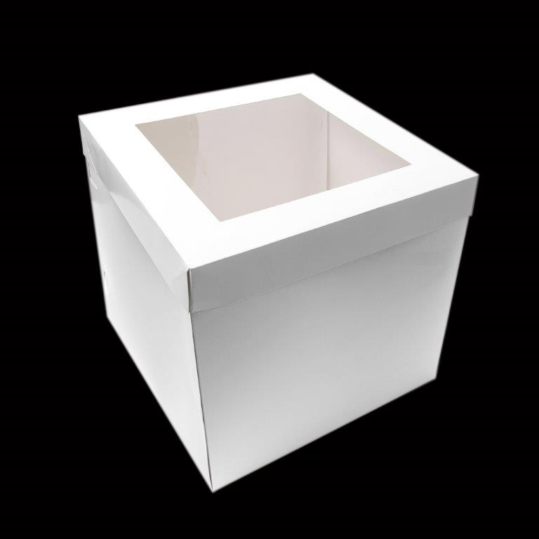 25cm Tall Cake Box with Window 8 inch