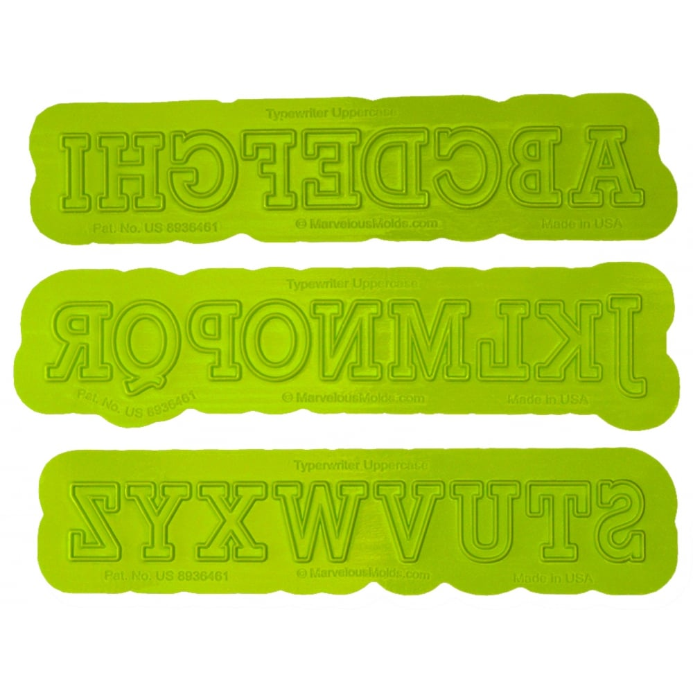 UPPERCASE TYPEWRITER Flexabet Onlay - Marvelous Molds