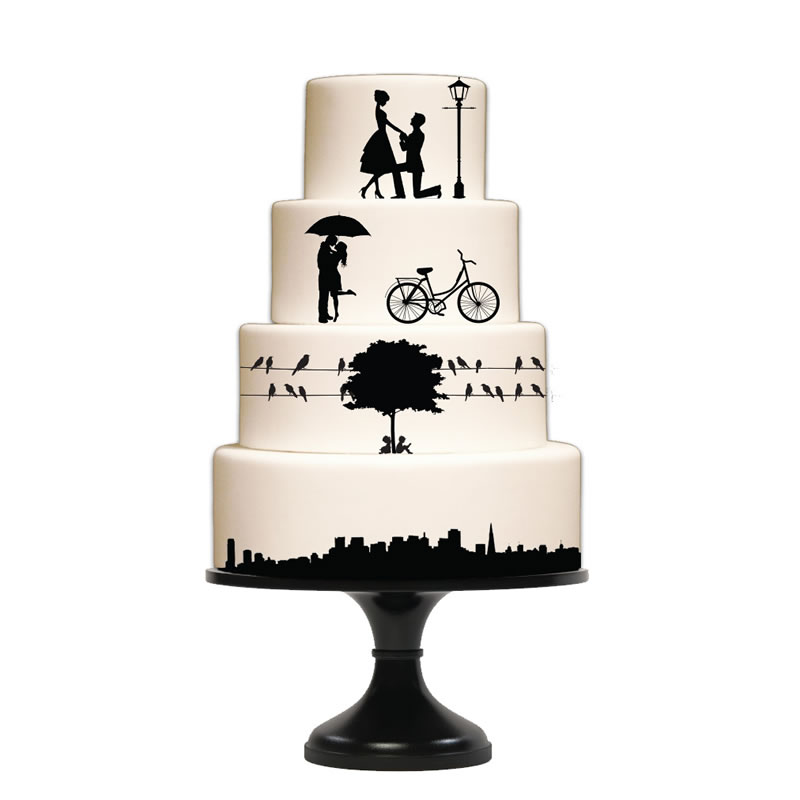 WEDDING & CITY ELEMENTS Silho Mould - by Silho Cake