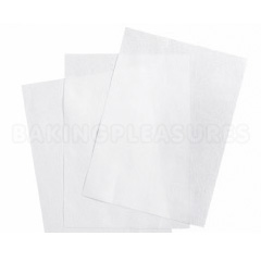 WHITE Rectangle Wafer Paper - A4 size (Pack of 10)