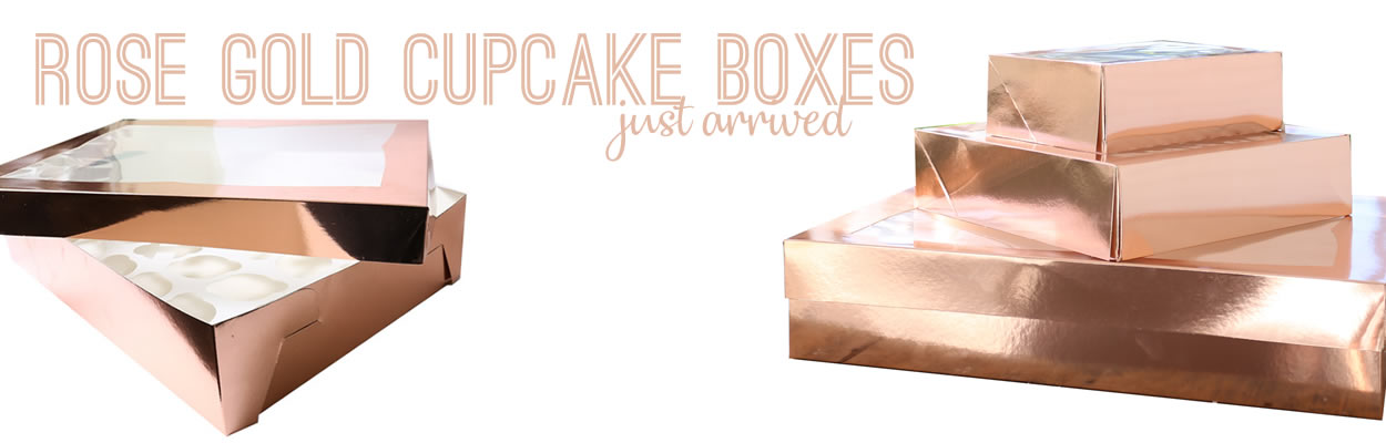 Rose Gold Cake Boxes